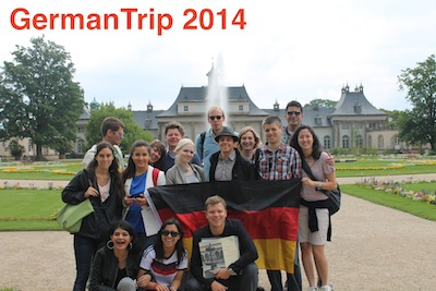 GermanTrip 2014 in front of a castle